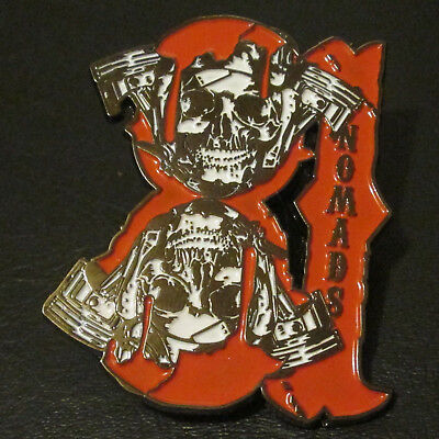 Rare MC Pin Badge 81 NOMADS Night Angels Outlaw Hells Riders Biker Club 1% Patch