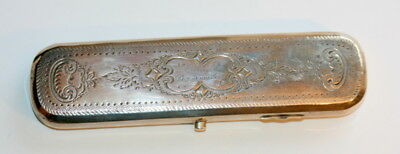Dated 1877 Hallmarked Dutch Spectacles Case Etui, 130 Mm Wide, Good Cond.