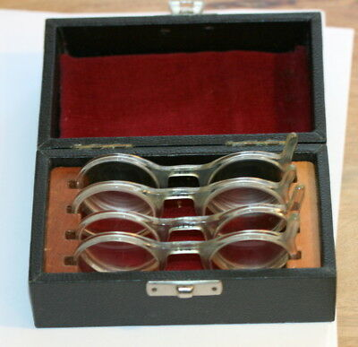 C1930 A Set Of Trial Spectacles By London Optical, +9.00, - 8.00, +5.00 & + 3.00