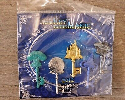 Disney Pin Your Key to the Magic 2012 Passholder Booster Set *Read Description*