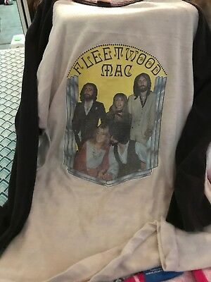 Vintage 1980s Fleetwood Mac Concert Tour Jersey Mens T-Shirt Small Pre-owned