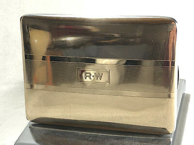 Vintage R BLACKINTON & CO 14K & Sterling Silver Cigarette / Card Case # 3189