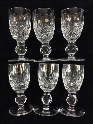 "Set of (6) Waterford Crystal Colleen Liquor Shot Glasses 3 1/4"" Tall"