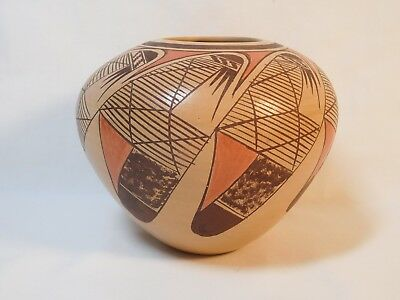 "**no Reserve** Hopi Indian ""migration Design"" Pottery By Adelle Nampeyo"