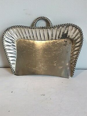 Vintage Meriden Silverplate Co Servant Crumb Pan. Quadruple Plated Butler