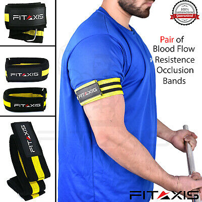 "Occlusion Training Band Blood flow Resistance Fitness Wraps L-36.50""/M-24.50""."