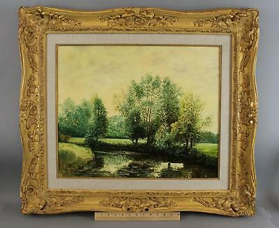 Vintage Original LIONEL GARNER French Countryside Landscape Oil Painting, NR