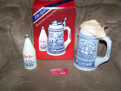 Old Spice Limited Edition Ceramic Stein 1982 with 6 3/8 oz After Shave Bottle