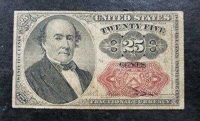 1874 U.S. 25c  Red Seal Fractional Currency Series (Fine) I065