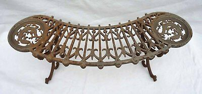 French Foot Stool Nickel Plate Cast Iron Accessory Wood Stove French Salamandre