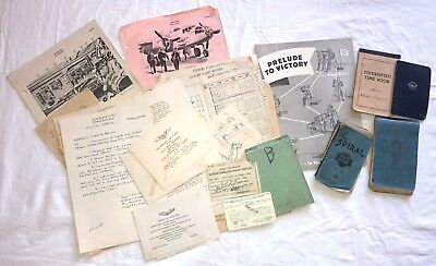 WWII US Army Air Corps AAF Cadet Pilot's Paperwork, Flight Records, Passes, Etc.