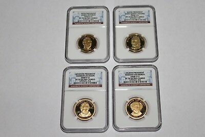 2008-S 4 Coin Ngc Pf70 Ultra Cameo Presidental Dollar Set