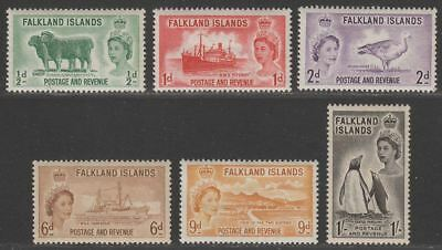 Falkland Islands 1955-57 Queen Elizabeth II Set Mint SG187-192 cat £40