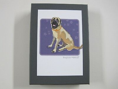Paper Russells Note Card Set - ENGLISH MASTIFF Dogs