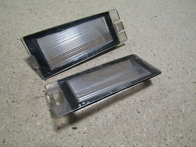 2001+ Jaguar S Type rear number plate light covers