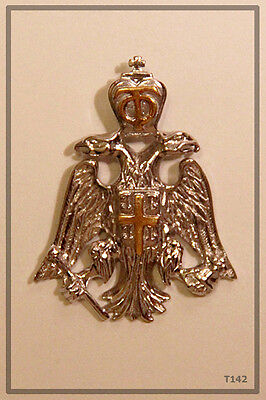 RUSSIAN ORTHODOX SILVER GOLD CROSS PENDANT MEDALLON  ICON Double-headed eagle
