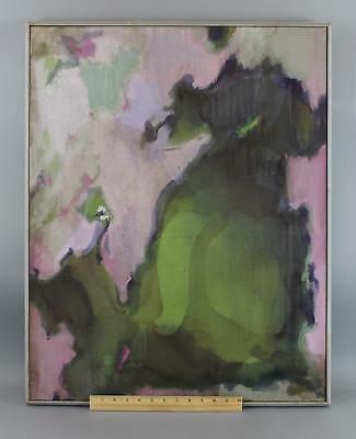 Large Vintage 1962 WILLIAM LITTLEFIELD American Abstract Oil Painting, NR