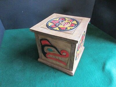 Classic Northwest Coast Design, Hand Carved & Painted Lidded Box,   Wy-02469A