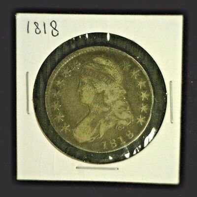 1818 Capped Bust Silver Half          (6555)