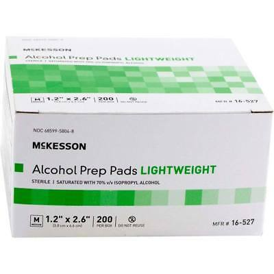 Alcohol Prep Pads 70%, Medium, non-sterile, 200/bx  Lot of 20