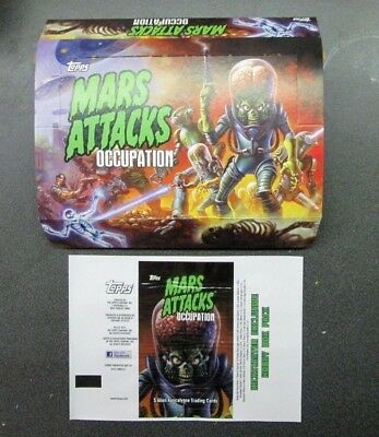 Mars Attacks Occupation Un-Used Un- Circulated Display Box And Wrapper Topps