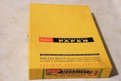 KODAK MEDALIST Single Weight F•2 Photo Photographic Paper 5x7 inches 100 Sheets