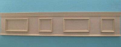 NICE Dollhouse Miniature 1:12 Scale Wooden Paneled Wainscotting Trim #WCC88