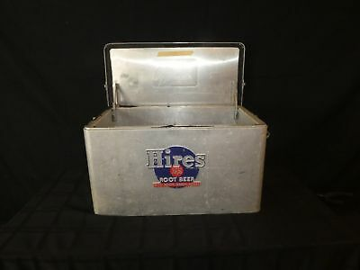 1950s HIRES ROOT BEER ALUMINUM COOLER ICE CHEST Soda Advertising(390)