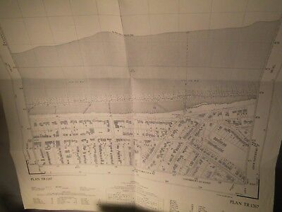 Whitstable-Marine Parade,tankerton Swalecliffe Ward:planner's Map 1950's Kent Os