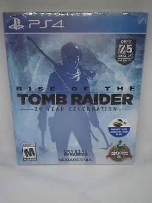 Nip Sealed Rise Of The Tomb Raider 20 Year Video Game Ps4 Playstation 4