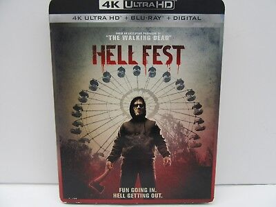 Hell Fest (4K UltraHD/Blu-ray/Digital HD, 2019) W/ SLIPCOVER NEW SEALED