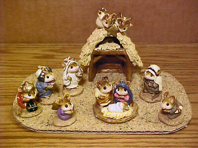 Wee Forest Folk Chris Mouse Pageant Nativity Shepherds, Stable, Wisemen, Angel