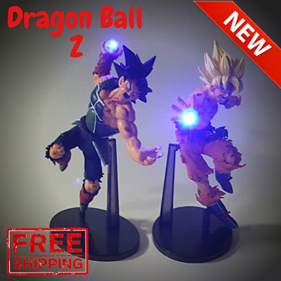 Dragon Ball Z Super Saiya Goku Vs Bardock Power Up Led Light Action Figure Toy