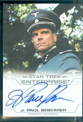 Star Trek Enterprise Season 4  J Paul Boehmer as SS Officer  Autograph Card