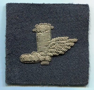 USAAF World War II Army Air Force Winged Boot in Bullion Wire