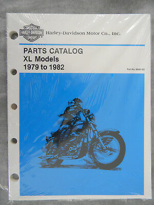 Harley Davidson 1979-1982 XL Models PARTS CATALOG  99451-82  new in old wrap