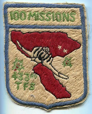 USAF Viet Nam Era 433rd Tactical Fighter Squadron 100 Missions Patch