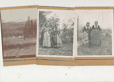 M 1416 Lot Of 3   Early 1910-15 Photographs Blackfoot Indians  ??