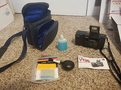 Kodak VR 35 K12 35mm Film Camera w/ 35mm f/2.8 Prime Lens And Case Plus Cleaning