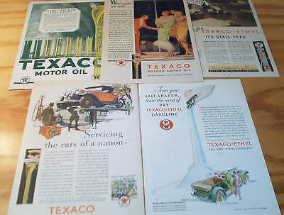 1925 to 1931 LOT TEXACO The Texas Company Motor Oil advertising pages