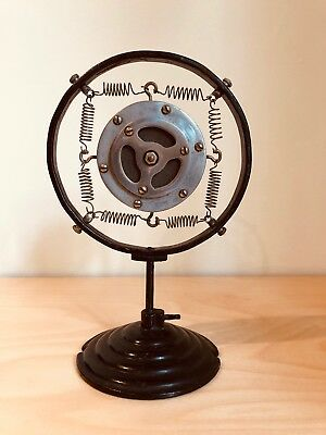 Vintage 1920s or 1930s Lifetime Carbon Spring Microphone & Stand, Art Deco Mic