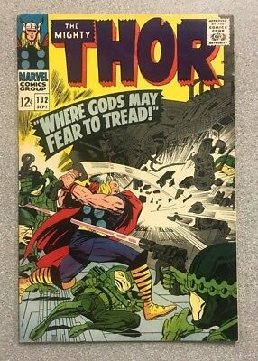 Thor #132 1St Ego The Living Planet Marvel Comics Silver Age Vg- Rare