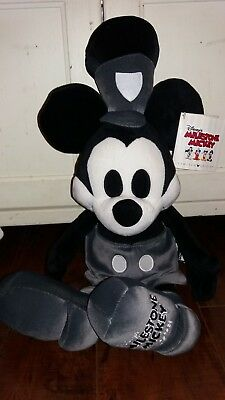 Disney Steamboat Willie  Milestone Mickey Mouse Plush Limited Edition 9080-1928