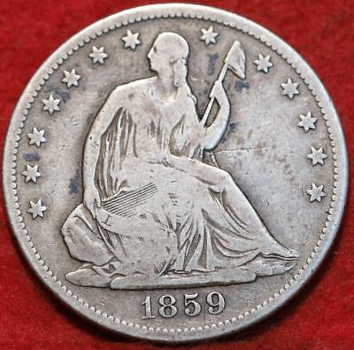 1859-S San Francisco Mint Silver Seated Half Dollar