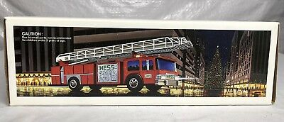 1986 Hess Toy Fire Truck Bank In Original Box