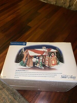 Last Stop Gas Station Dept 56 Snow Village 55012 With Box