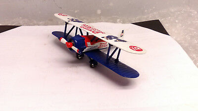 Gearbox Collectibles Pepsi Cola Air Bi Plane Biplane Airplane Metal Coin Bank