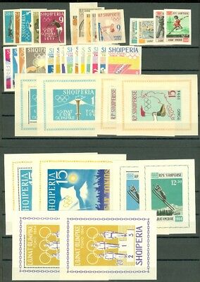 EDW1949SELL : ALBANIA Beautiful collection of all 1964 Olympics Issues. Cat $465