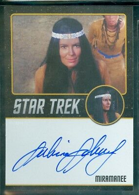 Star Trek Original Series 50th Anniversary Sabrina Scharf as Miramanee Auto Card