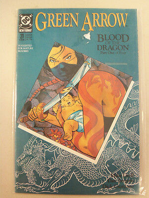 Green Arrow DC Comic Book Blood Of The Dragon Part One Of Four 21 August 1989